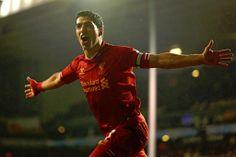 Two goals for Suarez against Tottenham #LFC #WorldClass