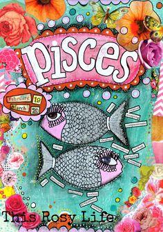 Pisces art, Pisces art print, astrology art. by ThisRosyLife on Etsy