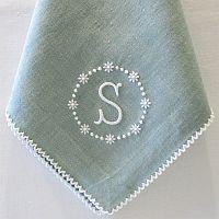 monogrammed dinner napkinsu2026 pillow cases towels cuffs collars