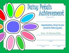 Daisy Petals Certificate - Green
