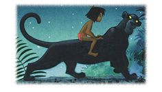 *MOWGLI & BAGHEERA ~ Jungle Book, 1967 When the Disney animators heard that I had imaginary pets from the statues of the Natural History Museum in Ann Arbor they were adding into the completion of their animated story The Jungle Book.