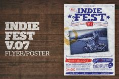 Indie Fest Poster (Handwritten) by moodboy on Envato Elements Indie, Bon Iver, Magazine Template, Magazine Design, Handwriting, Retro Vintage, Templates, Drawings, Poster Drawing