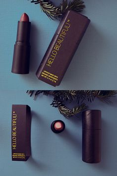 Recyclable Lipstick Packaging for Hello Beautiful! Lipstick, a green beauty lipstick line for multicultural women.