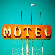 Marions Motel Vintage Sign - Mid Century Modern Decor - Retro Home Decor - Historic Highway 99 - Neon Sign Art - 20X20 Fine Art Photograph