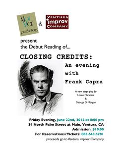 Reading of a New Play about Frank Capra