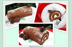 Yule log cake from our video tutorial ;0)