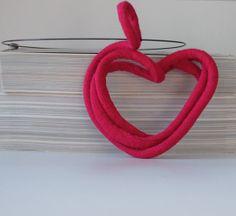 Textile Jewelry / Fiber Jewelry / Fiber by MaterialAtelier on Etsy www.materialatelier.com