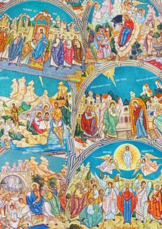 """Fresco painting in an Orthodox Church in Timisoara, Romania,"" by Anca Silvia B. - www.fotocommunity..."
