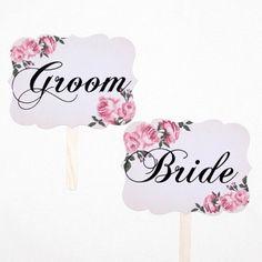 フォトプロップス<br>【GROOM & BRIDE/Antique Pink】