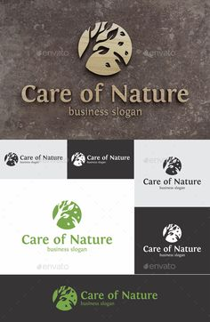 Care of Nature Logo Template Vector EPS, AI Illustrator, CorelDRAW CDR. Download here: https://graphicriver.net/item/care-of-nature-logo/17368471?ref=ksioks