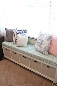 Sewing Tutorials Ikea No-Sew Window Bench Tutorial - Pull all the clutter out of your kiddos room and give storage a new makeover with these kids room organization hacks. Kid Room Decor, Home Diy, Furniture Hacks, Kids Room Organization, Diy Bedroom Decor, Kids Room Furniture, Bedroom Decor, Home Decor, Window Benches