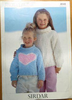 "Sirdar knitting pattern Leaflet no.4048 Little Girls jumper size 22-32"" #Sirdar"