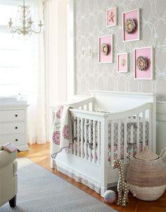Pretty pink and grey nursery