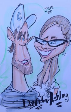 Caricature Cartoon Drawing Of Ashley Me