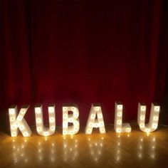 Letras retroilumindas de Kubalu Madrid