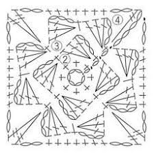 Image result for how to make increments in corners in square motifs when crocheting