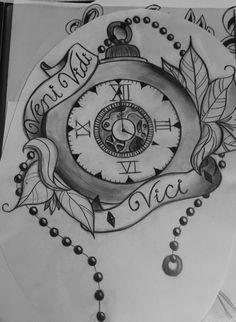 Floral Clock Design