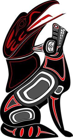 Arte Inuit, Arte Haida, Haida Art, Inuit Art, Native American Symbols, Native American Design, Native American Indians, Native Design, Haida Tattoo