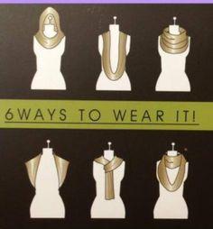 Ways to wear your infinity scarf