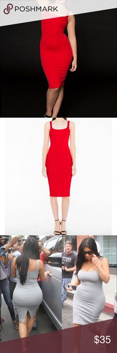 American Apparel RED Ponte Tank Dress Small S Worn once and the dress is practically brand new!!! Ponte tank dress by American Apparel in size Small however can definitely fit an XS (Extra Small) due to the nature of the fabric. Sold out!!! American Apparel Dresses Midi