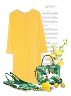 """""""Color Combo Series: Green and Yellow! FASHION!"""" by bliznec ❤ liked on Polyvore featuring Victoria, Victoria Beckham, Dolce&Gabbana, Kate Spade, dolceandgabbana and victoriabeckham"""