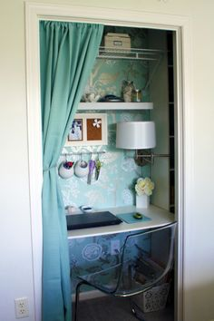 No room for a home office? Look inside your closet — it's the perfect, distraction-less setting to get some work done.