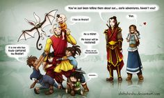 "Catch the Avatar by ShiftyShirshu.deviantart.com Katara's smile, that's the best, I can totally hear her ""yep."""