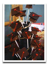 Graduation Cap Pops for a Graduation Party Food