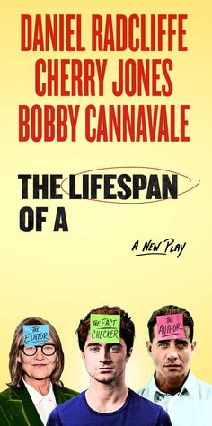 The Lifespan of a Fact Bobby Cannavale, Theatre Plays, Daniel Radcliffe, Theater, Nyc, Author, Facts, Website, Movie Posters