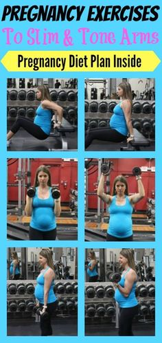 Pregnancy exercises to slim and tone arms.