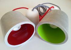Lámpara Foco de Cemento hecha a mano de MicaRicaShop en Etsy