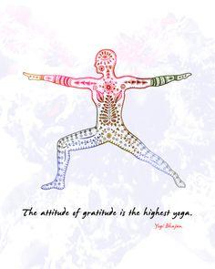 Yoga Art Warrior II Pose 8x10 Metallic Print by LeslieSabella, $20.00