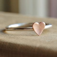 Could make cute Bridesmaids gifts Cute Bridesmaids Gifts, Silver Stacking Rings, Tiny Heart, Love Ring, Simple Jewelry, Diamond Are A Girls Best Friend, Heart Ring, Jewelery, Sweet Hearts