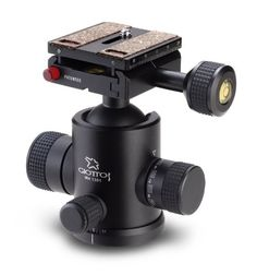 """Giottos MH1301-656 Ball Head (Black) Giotto's http://www.amazon.com/dp/B000OQIODU/ref=cm_sw_r_pi_dp_jsDavb1G8B759   Note: """"When buying a ball head get one with a Arca-Swiss compatible quick release system. Stay away from the Manfrotto system. It sucks! Sirui makes a good product and a number of ball heads. Some of the heavier duty heads look nice. I haven't seen too many of these but the price is right."""""""