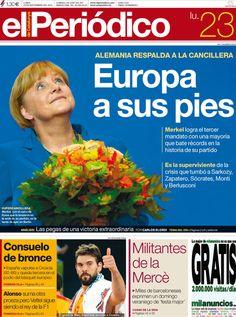 Los Titulares y Portadas de Noticias Destacadas Españolas del 23 de Septiembre de 2013 del Diario El Periódico ¿Que le pareció esta Portada de este Diario Español?
