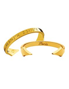 Meridian Bracelet // engraved with the coordinates of a favorite city... love this idea!