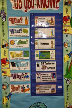 Do You KNOW? Wall.     BULLETIN BOARD    We have begun our EXPLORATION of the Patriarchs. I am excited. The KIDDOS are excited, too. Th...