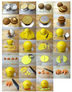Fantastic Easter chick cake tutorial