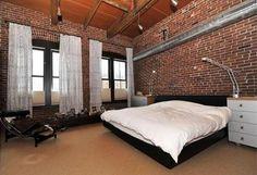 D coration brique rouge style loft new yorkais - Mur brique rouge loft ...
