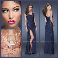 Makeup To Go With Navy Blue Dress. Homecoming Dress Prom Dress ...