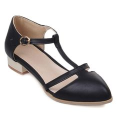 SHARE & Get it FREE | Sweet T-Strap and PU Leather Design Flat Shoes For WomenFor Fashion Lovers only:80,000+ Items • New…