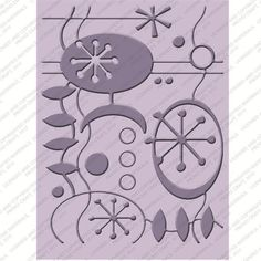 Cuttlebug Embossing Folder Coolio #2 - New (out of the box but never used) #Cuttlebug