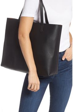 BP. Faux Leather Classic Tote | Nordstrom Carry On Tote, Everyday Look, Anniversary Sale, Pouch, Classic, Tote Bag, Leather, My Style