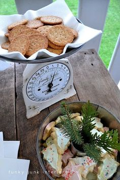 . the use of this vintage kitchen scale here the scale is used during a