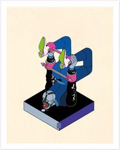 Les Illustrations rétrofuturistes de Stefan Glerum (5)