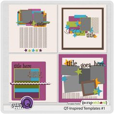 QT Inspired Templates 1 by Suzy Q Scraps