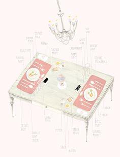table setting etiquette || Amy Borrell for Frankie Magazine