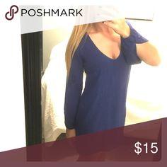 Tobi Shift Dress Royal blue shift dress. Slots in sleeves. Great condition! Tobi Dresses Mini