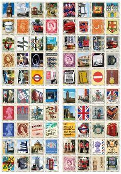 Stamp Sticker-London - 7321 DESIGN