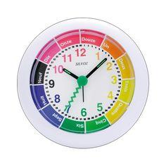 Réveil éducatif blanc pour enfants - 1001 Pendules
